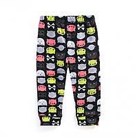 Модные котоновые леггинсы для детей для девочек чёрного цвета, арт. - 38065 , Total SALE -40% OFF : 2T,3T,4T,5T,6T,7T