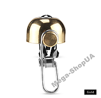 Велозвонок ретро громкий E10 велосипедный звонок, сигнал, гудок, клаксон для велосипеда, самоката Золотистый