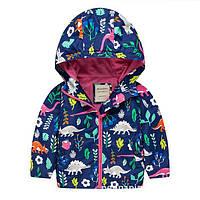 Детская куртка с капюшоном Meanbear Унисекс синего цвета Акция! Последний размер: 140см