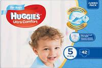 Подгузники для мальчика Huggies Ultra Comfort 5(12-22)кг 42шт Польша 9400218