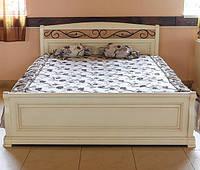 Деревянная белая кровать Виктория из дуба Явир