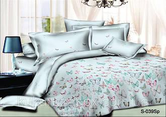 Двуспальный комплект 177х217  Нежные бабочки из сатина