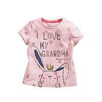 Стильная футболка для девочки для девочек розового цвета, арт. - 38071 , Скидка -15% : 4T,6T,7T