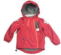 Детская теплая куртка Meanbear, флисовая подкладка, качество топ Унисекс красного цвета, арт. - 37792 , Скидка -12% : 130см,140см