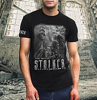 Kрутая футболка мужская с печатью  СТАЛКЕР отличный подарок!