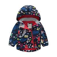 Детская куртка Meanbear, флисовая подкладка Унисекс синего цвета -40% Off: 120см,140см