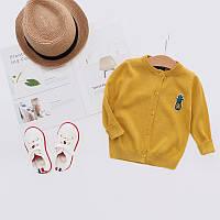 Весенний детский свитер для девочки, Топ качество для девочек жёлтого цвета, арт. - 38100 Акция! Последний размер:  120см