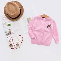 Весенний детский свитер для девочки, Топ качество для девочек розового цвета, арт. - 38101 Акция! Последний размер:  80см