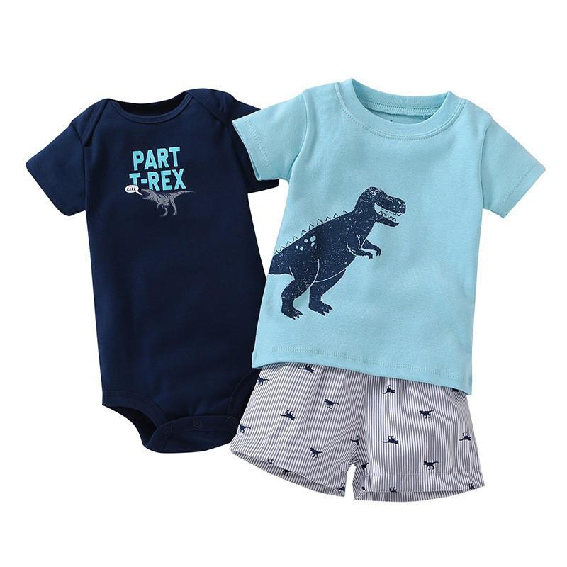 Детский комплект с динозавром для мальчиков  цвета, арт. - 38137 Акция! Последний размер:  6M