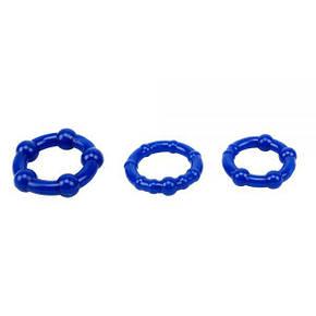 Набор колец Beaded Cock Rings-Blue, фото 2