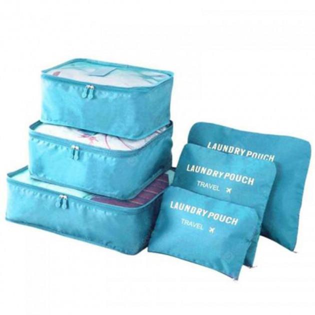 Набір дорожніх органайзерів Laundry Travel Pouch (набір 6 шт.), без прив'язки за кольором