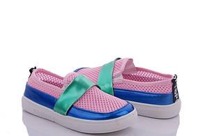 Сліпони кросівки, кеди літні для дівчинки,сітка рожеві Fashion (розміри 28,30,33,34)