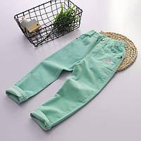 Легкие вельветовые джинсы для девочки для девочек бирюзового цвета Final SALE -50%: 140см,150см