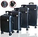 Чемоданы дорожные DMS с тележкой, размер S-32L, 47 x 35 x 24 см  черный Black, фото 2