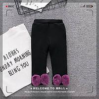 Утепленные брюки с плюшевой подкладкой для девочек чёрного цвета Final SALE -50%: 74см,80см