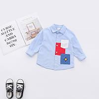Модная рубашка Katoofely, ТОП качество для мальчиков синего цвета -40% Off: 120см,130см