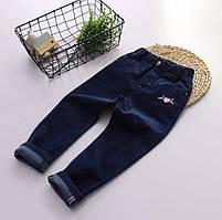 Легкие вельветовые джинсы для девочки для девочек темно-синего цвета Final SALE -50%: 130см,150см