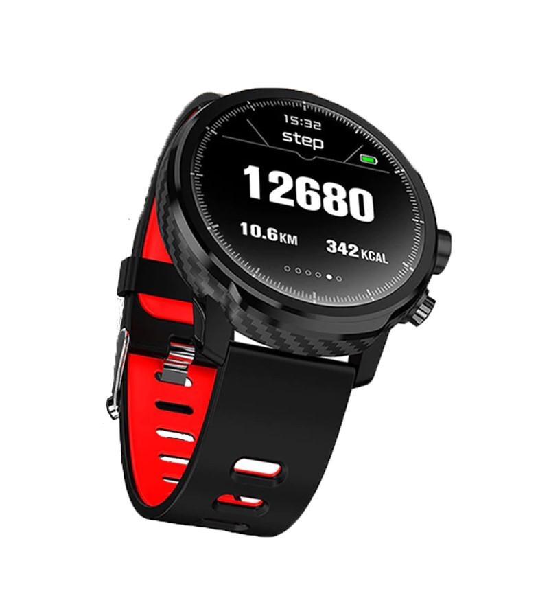 Умные часы Blaze Light со спортивными режимами и влагозащитой Черно-красный (swblligred)