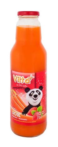Сік Vitta Plus морква, полуниця (скло) 0,75 л, фото 2
