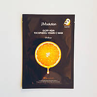 Маска тканевая с витамином С и Е JMsolution Glory Aqua Tocopherol Vitamin C Mask Deluxe
