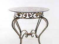 Стол кованый круглый со стеклом