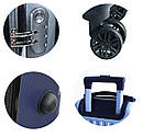 Чемоданы дорожные DMS с тележкой, размер L: 78L, 67 x 47 x 27 см  черный Black, фото 3