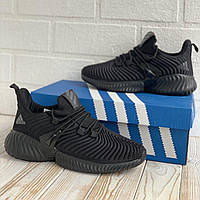 Кроссовки мужские Adidas Alphabounce instinct Black / мужские кроссовки Адидас альфабаунс инстинкт (Черные)