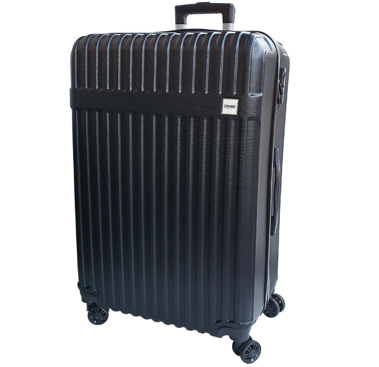 Чемоданы дорожные DMS с тележкой, размер XL: 124L, 77 x 52 x 32 см  черный Black