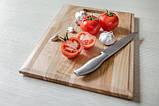 Дошка дерев'яна кухонна обробна прямокутна з ручкою Energy Wood 40х25х2см черешня, фото 2