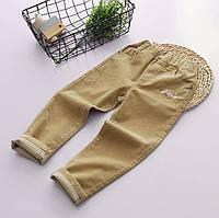 Легкие вельветовые джинсы для девочки для девочек коричневого цвета, арт. - 40711 , Total SALE -40% OFF : 110см,120см,130см,140см,150см
