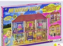 """Большой кукольный дом для кукол Барби «My lovely villa"""". Двухэтажный 6 комнат с мебелью Barbi"""