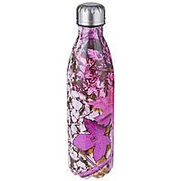 Термос пляшка питний A-PLUS 750 мл нержавійка мульти принт, фото 1