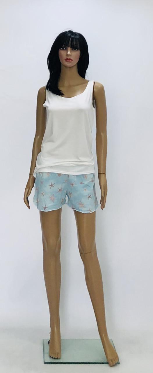 Пижама женская трикотажная майка и шорты