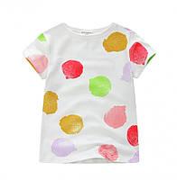Яркая детская футболка для девочек белого цвета Акция! Последний размер: 6T