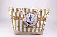 Женская пляжная сумка Якорь с канатными ручки, фото 1