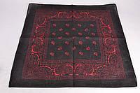 Бандана черная с красным классика, фото 1