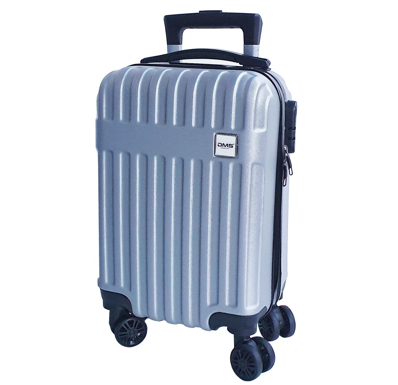 Чемоданы дорожные DMS с тележкой, размер M: 45L, 57 x 37 x 24 см серый Silver