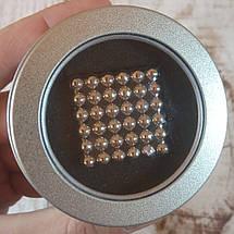 Магнитный конструктор антистресс Куб Нео NeoCube игрушка головоломка 216 шт по 5 мм Silver (живые фото), фото 3