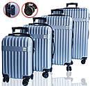 Чемоданы дорожные DMS с тележкой, размер XL: 124L, 77 x 52 x 32 см  серый Silver, фото 4