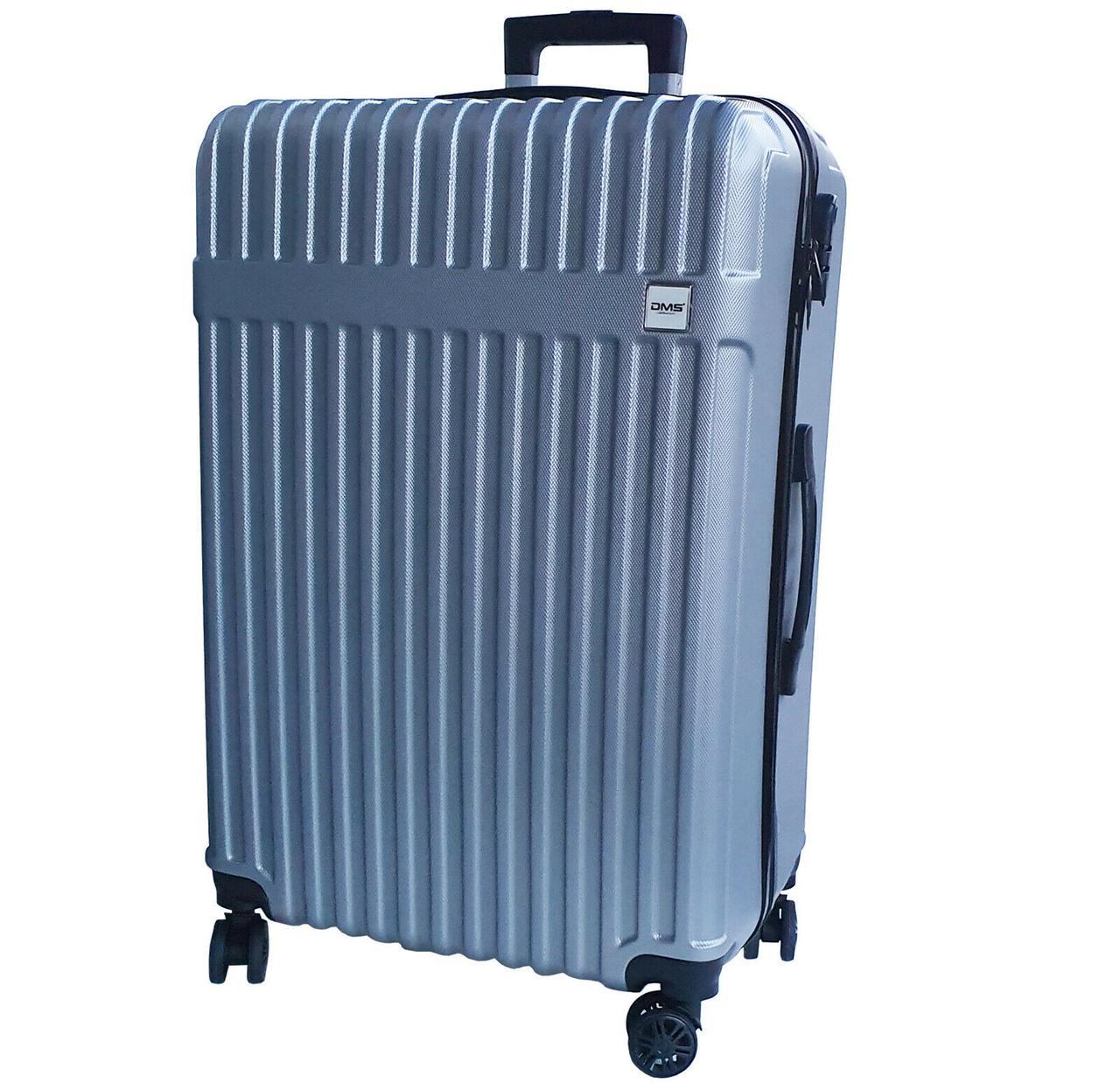 Чемоданы дорожные DMS с тележкой, размер XL: 124L, 77 x 52 x 32 см  серый Silver