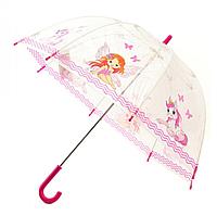 """Детский зонт Zest """"Фея и пони"""" прозрачный"""