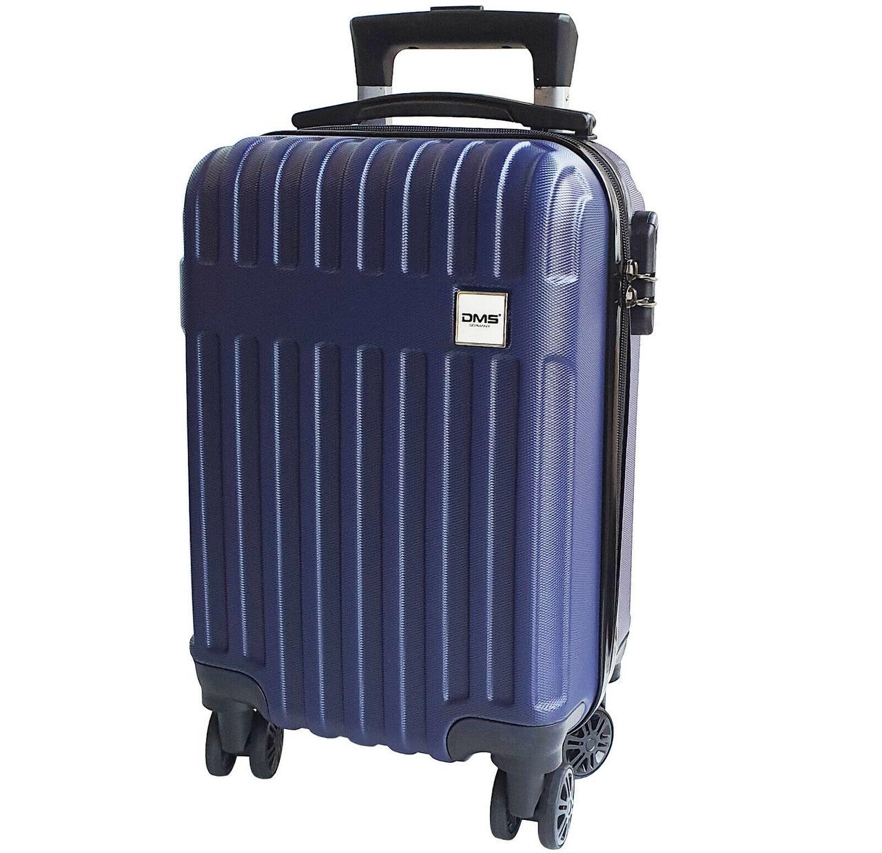 Чемоданы дорожные DMS с тележкой, размер S-32L, 47 x 35 x 24 см  синий Blue