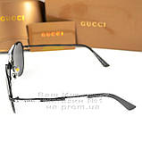 Женские солнцезащитные очки Gucci Модные 2020 Брендовые Авиаторы с поляризацией Polarized Гуччи реплика, фото 4