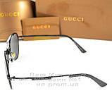 Жіночі сонцезахисні окуляри Gucci Модні 2020 Брендові Авіатори з поляризацією Polarized Гуччі репліка, фото 4
