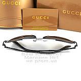Жіночі сонцезахисні окуляри Gucci Модні 2020 Брендові Авіатори з поляризацією Polarized Гуччі репліка, фото 5