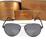 Жіночі сонцезахисні окуляри Gucci Модні 2020 Брендові Авіатори з поляризацією Polarized Гуччі репліка, фото 7
