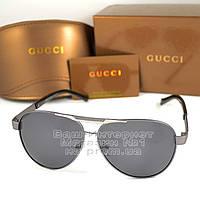 Женские солнцезащитные очки Gucci Авиаторы с поляризацией Polarized Модные 2020 Брендовые Гуччи реплика