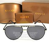 Жіночі сонцезахисні окуляри Gucci Polarized Авіатори Модні 2021 з поляризацією Брендові Гуччі репліка, фото 6