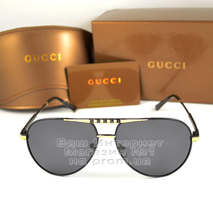Жіночі сонцезахисні окуляри Gucci Polarized Авіатори Модні 2021 з поляризацією Брендові Гуччі репліка