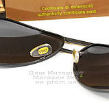 Чоловічі сонцезахисні окуляри Gucci Polarized Авіатори з поляризацією для водіїв Поляризаційні Гуччі копія, фото 4